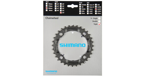 Shimano Alivio FC-M430 Klinger sort